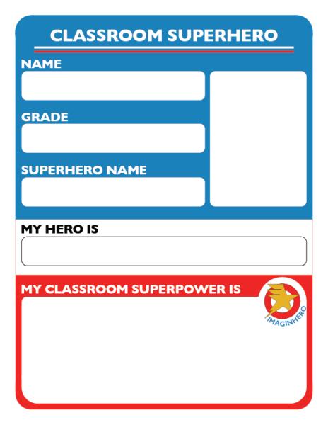 Imaginhero Classroom Superhero